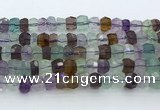 CRB5625 15.5 inches 6*8mm – 7*9mm faceted rondelle fluorite beads
