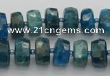 CRB589 15.5 inches 6*10mm faceted rondelle apatite beads
