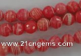 CRC403 15.5 inches 10mm faceted round synthetic rhodochrosite beads