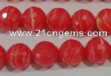 CRC514 15.5 inches 12mm faceted round synthetic rhodochrosite beads