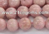 CRC923 15.5 inches 10mm round natural rhodochrosite beads