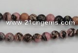 CRD01 15.5 inches 6mm round natural rhodonite gemstone beads