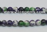 CRF02 15.5 inches 6mm round dyed rain flower stone beads wholesale