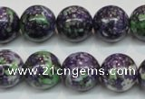 CRF06 15.5 inches 14mm round dyed rain flower stone beads wholesale