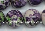 CRF09 15.5 inches 20mm round dyed rain flower stone beads wholesale