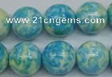 CRF106 15.5 inches 16mm round dyed rain flower stone beads wholesale