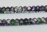 CRF14 15.5 inches 5*8mm rondelle dyed rain flower stone beads wholesale