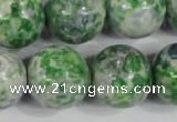 CRF158 15.5 inches 20mm round dyed rain flower stone beads wholesale