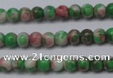 CRF271 15.5 inches 3mm round dyed rain flower stone beads