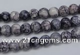 CRF280 15.5 inches 4mm round dyed rain flower stone beads