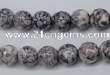 CRF282 15.5 inches 8mm round dyed rain flower stone beads