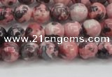 CRF301 15.5 inches 6mm round dyed rain flower stone beads wholesale