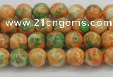 CRF308 15.5 inches 6mm round dyed rain flower stone beads wholesale