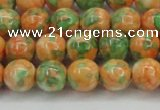 CRF310 15.5 inches 10mm round dyed rain flower stone beads wholesale