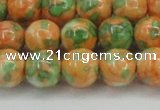 CRF312 15.5 inches 14mm round dyed rain flower stone beads wholesale