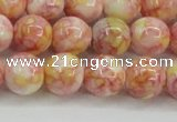 CRF318 15.5 inches 12mm round dyed rain flower stone beads wholesale
