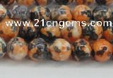 CRF323 15.5 inches 8mm round dyed rain flower stone beads wholesale