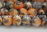 CRF324 15.5 inches 10mm round dyed rain flower stone beads wholesale