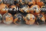 CRF326 15.5 inches 14mm round dyed rain flower stone beads wholesale