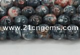 CRF330 15.5 inches 8mm round dyed rain flower stone beads wholesale