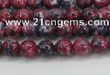CRF342 15.5 inches 4mm round dyed rain flower stone beads wholesale