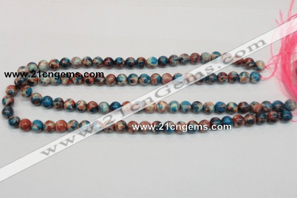 CRF36 15.5 inches 8mm round dyed rain flower stone beads wholesale