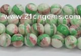 CRF380 15.5 inches 4mm round dyed rain flower stone beads wholesale