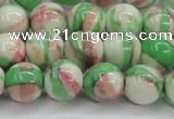 CRF384 15.5 inches 12mm round dyed rain flower stone beads wholesale