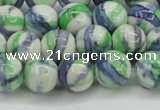 CRF390 15.5 inches 12mm round dyed rain flower stone beads wholesale