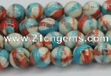 CRF399 15.5 inches 6mm round dyed rain flower stone beads wholesale