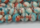CRF400 15.5 inches 8mm round dyed rain flower stone beads wholesale