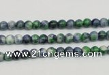 CRF42 15.5 inches 4mm round dyed rain flower stone beads wholesale