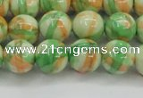 CRF420 15.5 inches 12mm round dyed rain flower stone beads wholesale