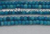 CRF428 15.5 inches 2mm round dyed rain flower stone beads wholesale