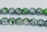 CRF44 15.5 inches 8mm round dyed rain flower stone beads wholesale
