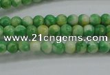 CRF454 15.5 inches 3mm round dyed rain flower stone beads wholesale