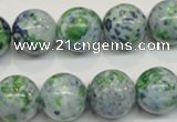 CRF48 15.5 inches 16mm round dyed rain flower stone beads wholesale