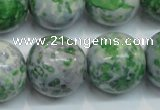 CRF50 15.5 inches 20mm round dyed rain flower stone beads wholesale