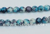 CRF56 15.5 inches 6mm round dyed rain flower stone beads wholesale