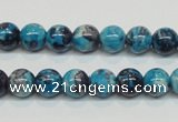CRF57 15.5 inches 8mm round dyed rain flower stone beads wholesale