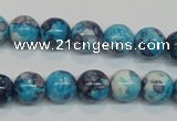 CRF58 15.5 inches 10mm round dyed rain flower stone beads wholesale