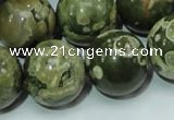 CRH103 15.5 inches 20mm round rhyolite beads wholesale