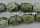CRH127 15.5 inches 13*18mm drum rhyolite gemstone beads