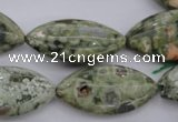CRH140 15.5 inches 15*30mm marquise rhyolite gemstone beads