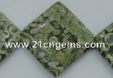 CRH146 15.5 inches 30*30mm diamond rhyolite gemstone beads