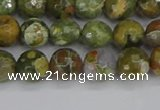 CRH527 15.5 inches 6mm faceted round rhyolite beads wholesale