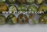 CRH528 15.5 inches 8mm faceted round rhyolite beads wholesale