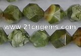 CRH543 15.5 inches 10mm faceted nuggets rhyolite beads wholesale