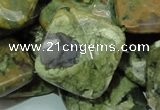 CRH76 15.5 inches 25*25mm faceted rhombic rhyolite beads wholesale