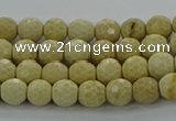CRI210 15.5 inches 4mm faceted round riverstone beads wholesale